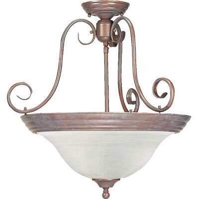Troy 3-Light Pendant or Semi Flush Mount Finish: Prairie Rock