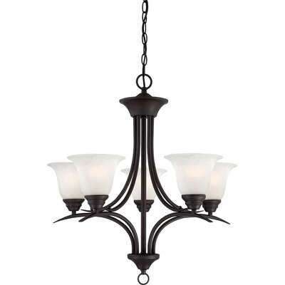 Whetsel 5-Light Shaded Chandelier Finish: Antique Bronze