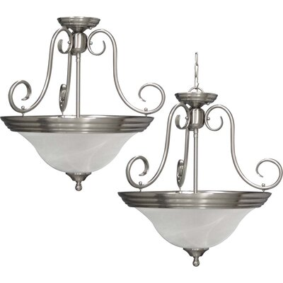 Troy 3-Light Pendant or Semi Flush Mount Finish: Brushed Nickel