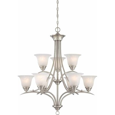 Whetsel 9-Light Shaded Chain Chandelier Color: Brushed Nickel