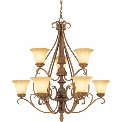 Capri 9-Light Candle-Style Chandelier