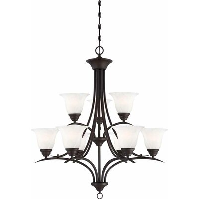 Whetsel 9-Light Shaded Chain Chandelier Color: Antique Bronze