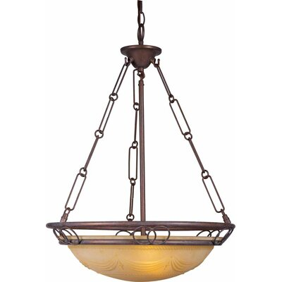 Kuta 3-Light Bowl Pendant Finish: Prairie Rock