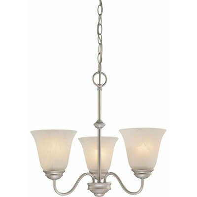 Kim 3-Light Shaded Chandelier Finish: Nickel