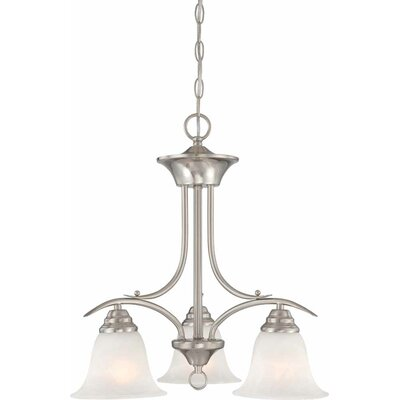 Whetsel 3-Light Shaded Chandelier Color: Brushed Nickel