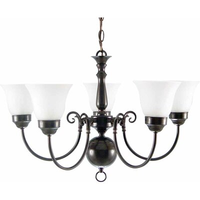 Minster 5-Light Shaded Chandelier Finish: Roman Bronze