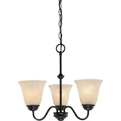 Hammond 3-Light Shaded Chandelier Finish: Antique Bronze