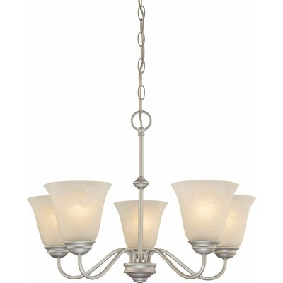 Kim 5-Light Shaded Chandelier Finish: Nickel