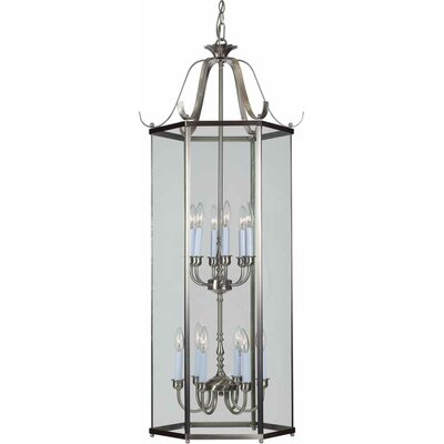 12-Light Foyer Pendant Finish: Brushed Nickel