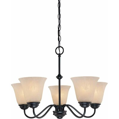 Hammond 5-Light Shaded Chandelier Finish: Antique Bronze