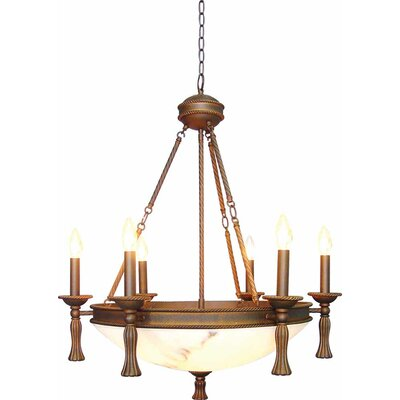 Clifden 6-Light Candle-Style Chandelier