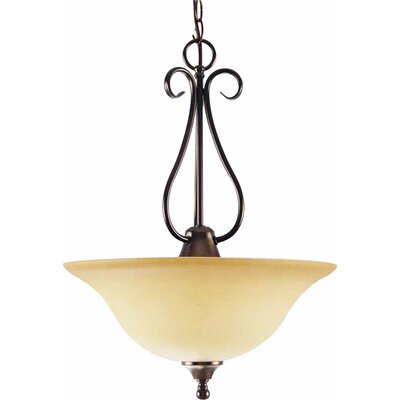 Minster 3-Light Bowl Pendant