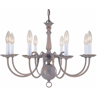 8-Light Candle-Style Chandelier Finish: Prairie Rock