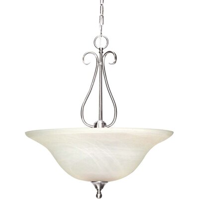 Minster 3-Light Bowl Pendant Finish: Brushed Nickel