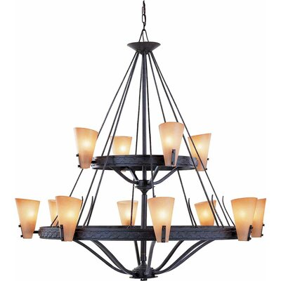 Lodge 12-Light Candle-Style Chandelier