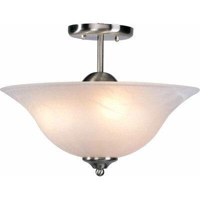 Minster 3-Light Semi Flush Mount Finish: Brushed Nickel