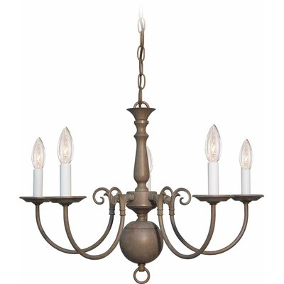 Ballenton 5-Light Candle-Style Chandelier Finish: Prairie Rock