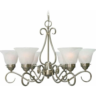 Minster 6-Light Shaded Chandelier Finish: Brushed Nickel