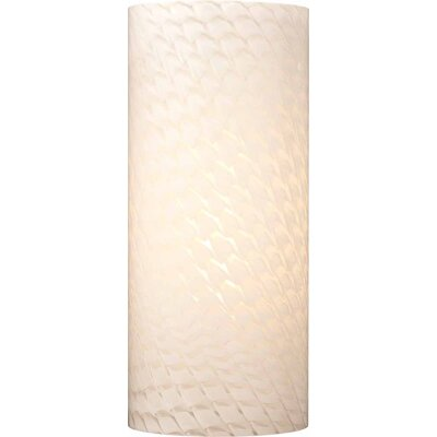4.75 Glass Drum Wall Sconce Shade Color: White