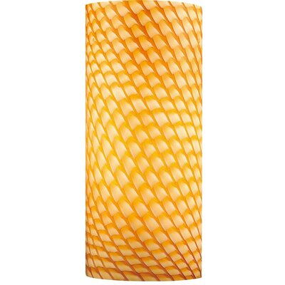 3 Glass Drum Wall Sconce Shade Color: Amber