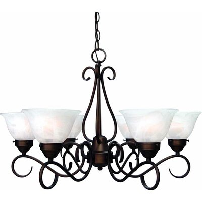 Minster 6-Light Shaded Chandelier Finish: Antique Bronze