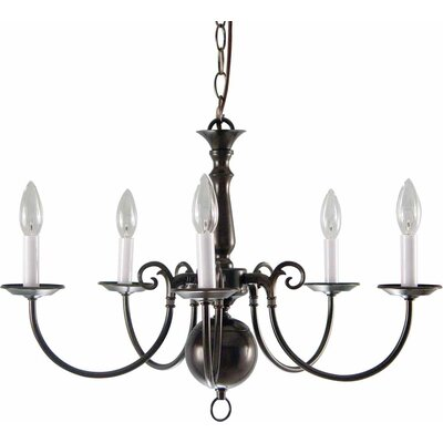 Ballenton 5-Light Candle-Style Chandelier Finish: Antique Bronze