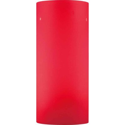 4.75 Glass Drum Pendant Shade Color: Red