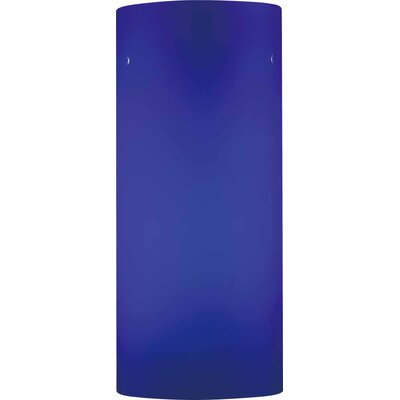 4.75 Glass Drum Pendant Shade Color: Blue