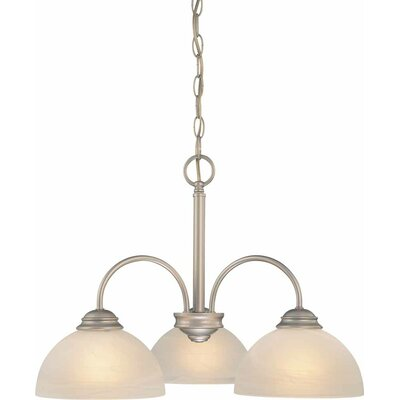 Bernice 3-Light Shaded Chandelier Finish: Nickel