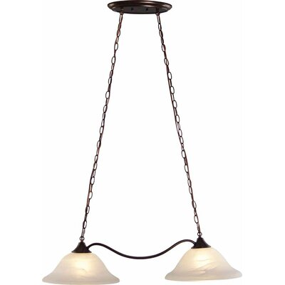 Minster 2-Light Kitchen Island Pendant Finish: Antique Bronze