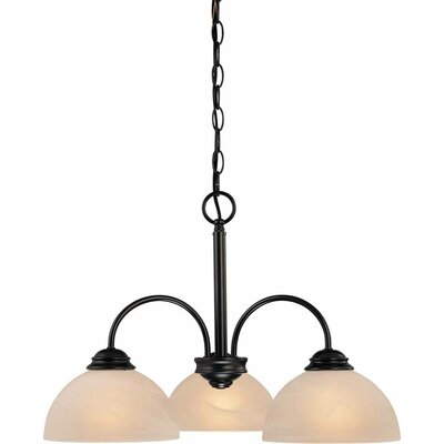 Bernice 3-Light Shaded Chandelier Finish: Antique Bronze