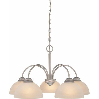 Bernice 5-Light Shaded Chandelier Finish: Nickel