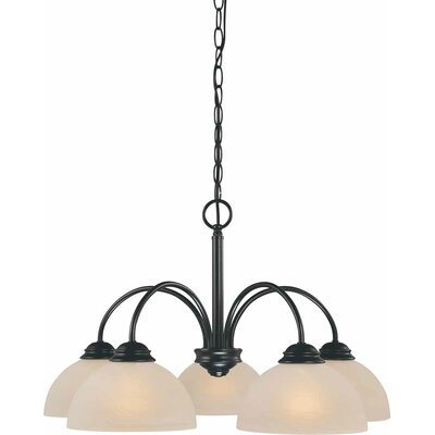 Bernice 5-Light Shaded Chandelier Finish: Antique Bronze
