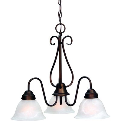 Minster 3-Light Shaded Chandelier Finish: Antique Bronze