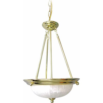 Emington 3-Light Bowl Pendant Finish: Polished Brass