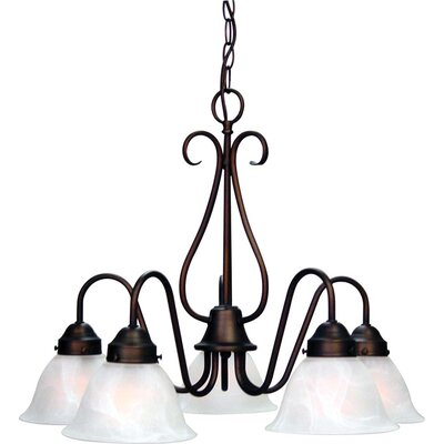 Minster 5-Light Shaded Chandelier Finish: Antique Bronze