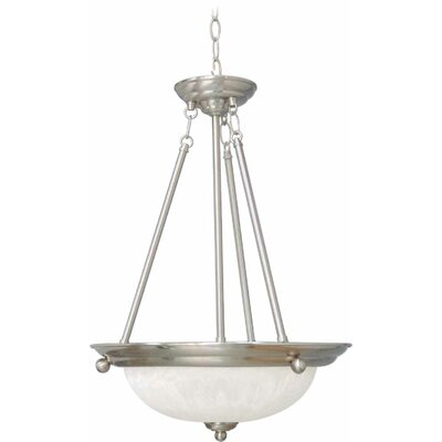 Emington 3-Light Bowl Pendant Finish: Brushed Nickel
