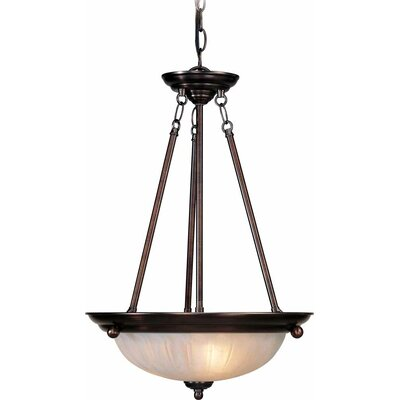 Emington 3-Light Glass Bowl Pendant Finish: Antique Bronze