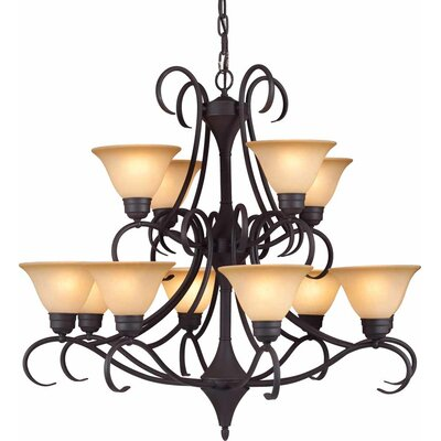 Windsor 12-Light Shaded Chandelier