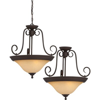 Troy 3-Light Pendant or Semi Flush Mount