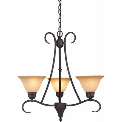 Windsor 3-Light Shaded Chandelier