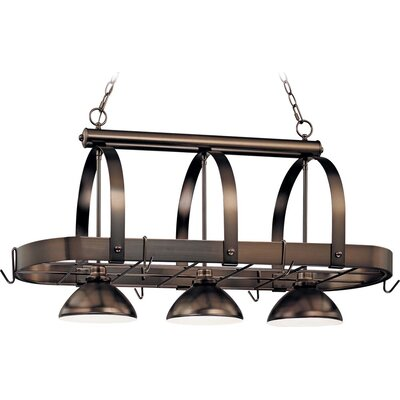 3-Light Pot Rack Finish: Antique Bronze