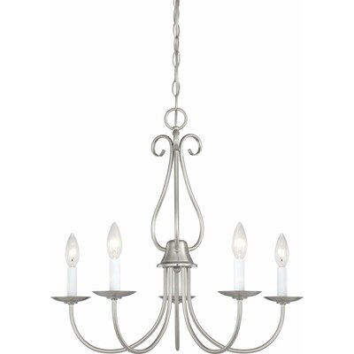 Minster 5-Light Candle-Style Chandelier Finish: Brushed Nickel