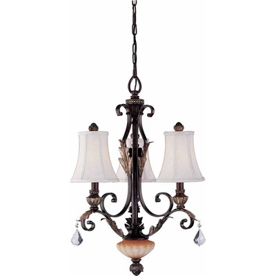 Andalusia 3-Light Shaded Chandelier