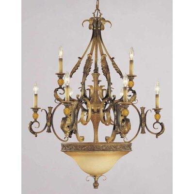 Venetian 9-Light Candle-Style Chandelier