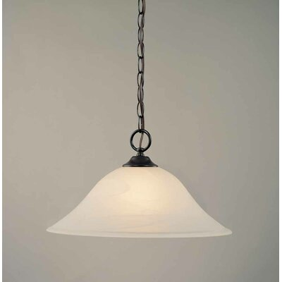 Kim 1-Light Bell Inverted Pendant Finish: Antique Bronze