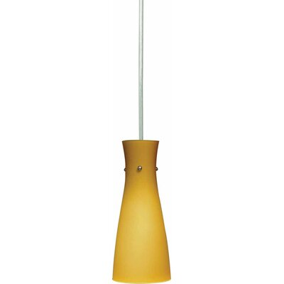 1-Light Mini Pendant Shade Color: Amber
