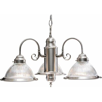 Roth 3-Light Shaded Chandelier Finish: Brushed Nickel