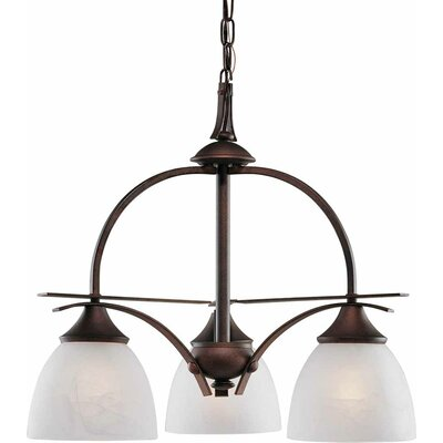 Durango 3-Light Shaded Chandelier Finish: Italian Dusk