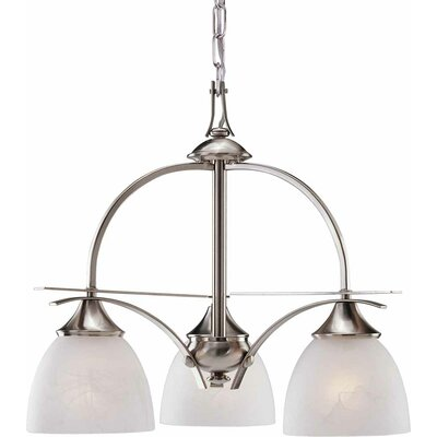 Durango 3-Light Shaded Chandelier Finish: Brushed Nickel